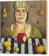 The Fruit Collector 2 Wood Print by Leah Saulnier The Painting Maniac