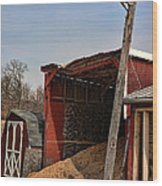 The Grain Barn Wood Print by Paul Ward