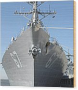 The Guided Missile Destroyer Uss Cole Wood Print by Stocktrek Images