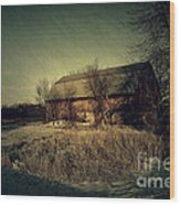 The Hiding Barn Wood Print by Joel Witmeyer