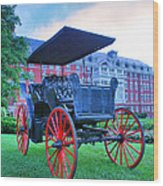 The Homestead Carriage II Wood Print by Steven Ainsworth