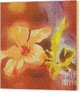 The Iris Flower Wood Print by Odon Czintos