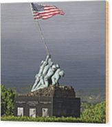 The Iwo Jima Statue Wood Print by Michael Wood