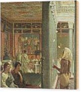 The Juggler Wood Print by Sir Lawrence Alma-Tadema