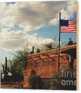 The Last Outpost Old Tuscon Arizona Wood Print by Susanne Van Hulst