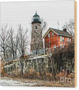 The Lighthouse Wood Print by Ken Marsh