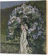 The Lilac Bush Wood Print by Olaf Isaachsen