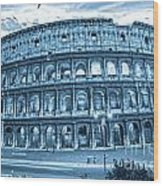 The Majestic Coliseum Wood Print by Luciano Mortula