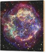 The Many Sides Of The Supernova Remnant Wood Print by Nasa