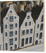 The Netherlands, Amsterdam, Model Houses Wood Print by Keenpress