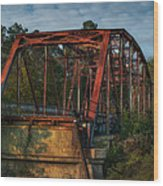 The Old Brooklyn Bridge Wood Print by Brenda Bryant