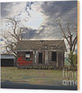 The Old Farm House In My Dreams Wood Print by Wingsdomain Art and Photography