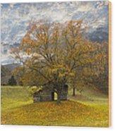The Old Oak Tree Wood Print by Debra and Dave Vanderlaan