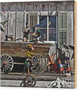 The Old Shed Wood Print by Mary Machare