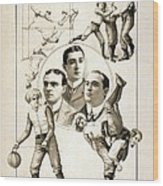 The Orpheum Show. Vaudeville Poster Wood Print by Everett