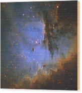 The Pacman Nebula Wood Print by Ken Crawford