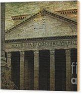 The Pantheon's Curse Wood Print by Lee Dos Santos