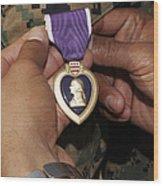 The Purple Heart Award Wood Print by Stocktrek Images
