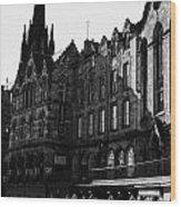 The Quaker Meeting House On Victoria Street Edinburgh Scotland Uk United Kingdom Wood Print by Joe Fox