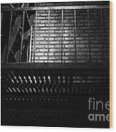 The Rear Window - Bw - 7d17463 Wood Print by Wingsdomain Art and Photography