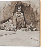 The Robe Wood Print by Pg Reproductions