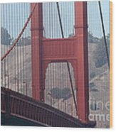 The San Francisco Golden Gate Bridge - 7d19057 Wood Print by Wingsdomain Art and Photography
