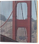 The San Francisco Golden Gate Bridge - 7d19061 Wood Print by Wingsdomain Art and Photography