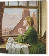 The Song Of The Shirt Wood Print by Anna E Blunden