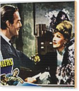 The Spoilers, From Left Randolph Scott Wood Print by Everett