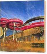 The Sun Centre Wood Print by Adrian Evans