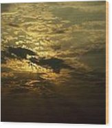 The Sun Obscured By A Late Afternoon Wood Print by Jason Edwards