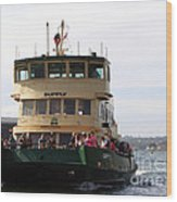 The Sydney Harbour Ferry Supply Wood Print by Joanne Kocwin