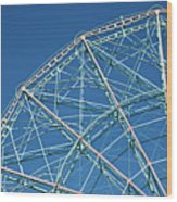 The Top Of A Ferris Wheel, Low Angle View Wood Print by Frederick Bass