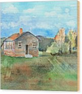 The Vacant Schoolhouse Wood Print by Arline Wagner
