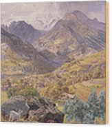 The Val D'aosta Wood Print by John Brett