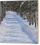 The Valley Road Wood Print by Jack Skinner