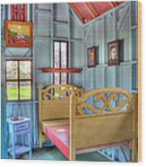 The Vincent Van Gogh Small House Wood Print by Tamyra Ayles