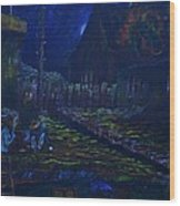 The Wall In Left Field Wood Print by William Bezik