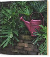 The Watering Can Wood Print by Brenda Bryant