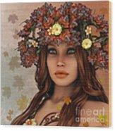 They Call Her Autumn Wood Print by Jutta Maria Pusl