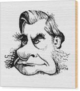 Thomas Huxley, Caricature Wood Print by Gary Brown