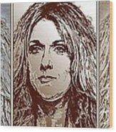 Three Interpretations Of Celine Dion Wood Print by J McCombie