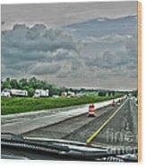 Thunder Road Wood Print by Alan Look