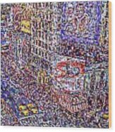 Times Square Wood Print by Marilyn Sholin