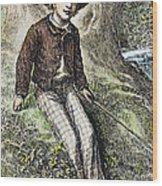 Tom Sawyer, 1876 Wood Print by Granger