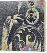 Totem In Space Wood Print by George  Page