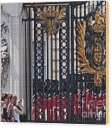 Tourists At Changing Of The Guards Wood Print by Andrew  Michael