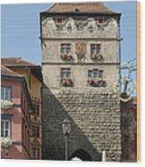 Town Gate Schwarzes Tor In Rottweil Germany Wood Print by Matthias Hauser