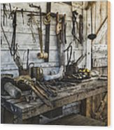 Trade Tools Wood Print by Peter Chilelli