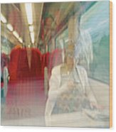Train Travel Wood Print by Carlos Dominguez